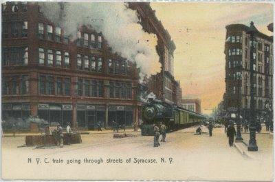 6 A New York Central train