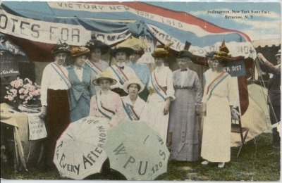 9eb Suffragette at New York State Fair 1915