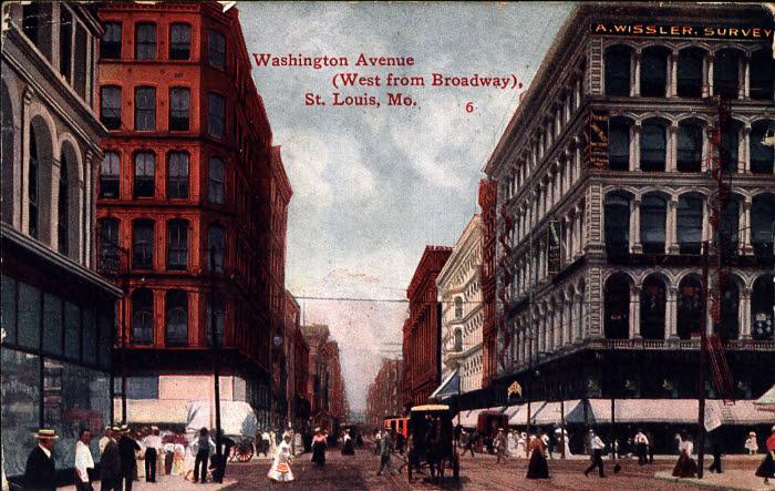 Washington Avenue, west from Broadway, St. Louis