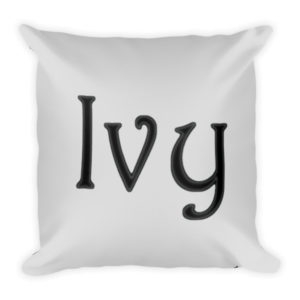 Ivy Square Pillow (Grey)