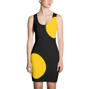 Hello Sunshine Dress (Gold/Black)