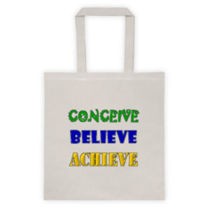 Conceive Believe Achieve Tote Bag (Taupe)