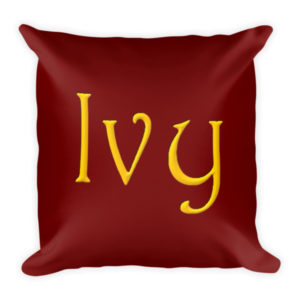 Ivy Square Pillow (Red)