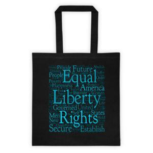 Declaration of Independence Cloud Tote Bag (Black)