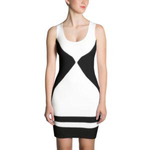 Harlequin Dress (Black/White)