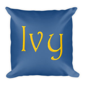 Ivy Square Pillow (Blue)