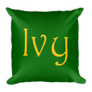 Ivy Square Pillow (Green)